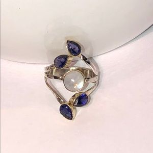 NEW! Moonstone & Amethyst Ring